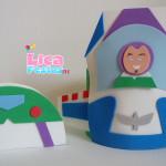 Porta guardanapo e enfeite de mesa Buzz Lightyear Toy Story