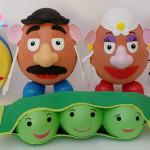 Bola Pixar, Dr. Hamm, Sr. e Sra. Cabeça de batata, Ervilhas Toy Story