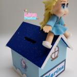 Cofrinho MDF e EVA Elsa Frozen