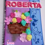 Capa de caderno Flores