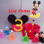 Enfeite de mesa e Porta Doces Turma do Mickey