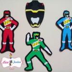 Apliques Power Rangers