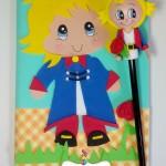 Capa de caderno e Ponteira Pequeno Príncipe