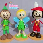 Peter Pan, Sininho e Capitão Gancho 25 cm