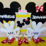 Enfeites e apliques de parede Mickey e Minnie