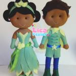 Tiana e Príncipe Naveen 25 cm