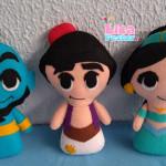 Aladdin, jasmine e Gênio