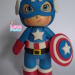 Topinho de bolo Capitão América