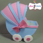 Topo de bolo carrinho de bebê